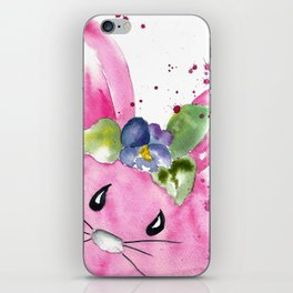 Easter Bunny Peek A Boo iPhone Skin