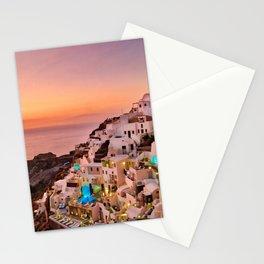 Oia Sunset Stationery Cards
