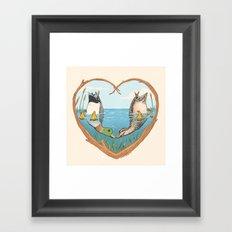 Duck Love Framed Art Print