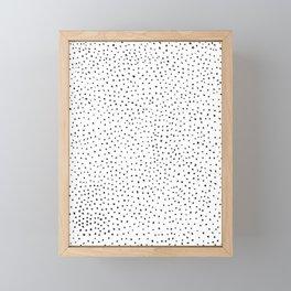 Dotted White & Black Framed Mini Art Print
