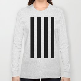 Black & White Vertical Stripes - Mix & Match with Simplicity of Life Long Sleeve T-shirt