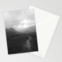 Canadian Rockies Trail Near Peyto Lake Stationery Cards