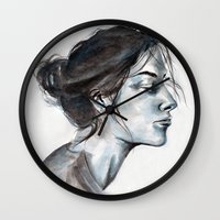 lucy Wall Clocks featuring Lucy by Chloe Gibb