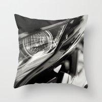 honda Throw Pillows featuring Honda CBR 125 Motorcycle by Simon's Photography