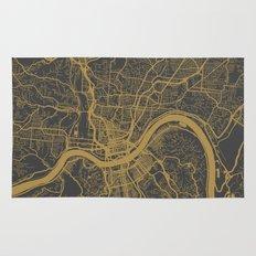 Cincinnati map Rug