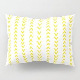 Yellow Arrows Pillow Sham