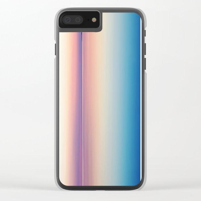 Color Layers Sunrise Sea Clear iPhone Case