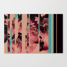Divided Floral  Canvas Print