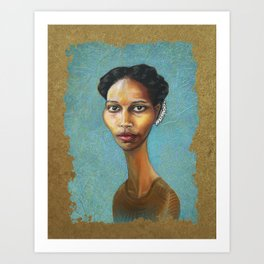 Portrait of Ayaan Hirsi Ali Art Print