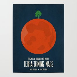 Terraforming Mars - Minimalist Board Games 02 Poster
