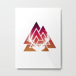 Geometric deer Metal Print