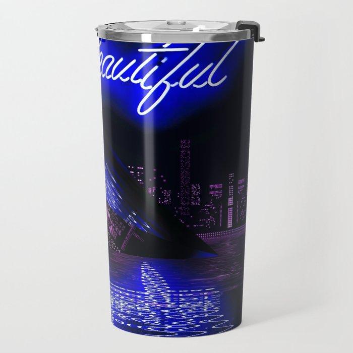Neon UFO by GEN Z Travel Mug