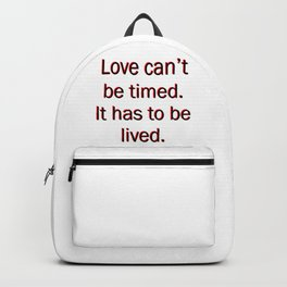 money heist quote Backpack