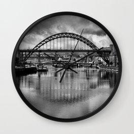 River Tyne Bridges Wall Clock