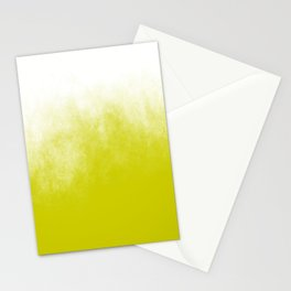 Chartreuse & White Ombre Stationery Cards