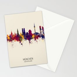 Munich Germany Skyline Stationery Cards