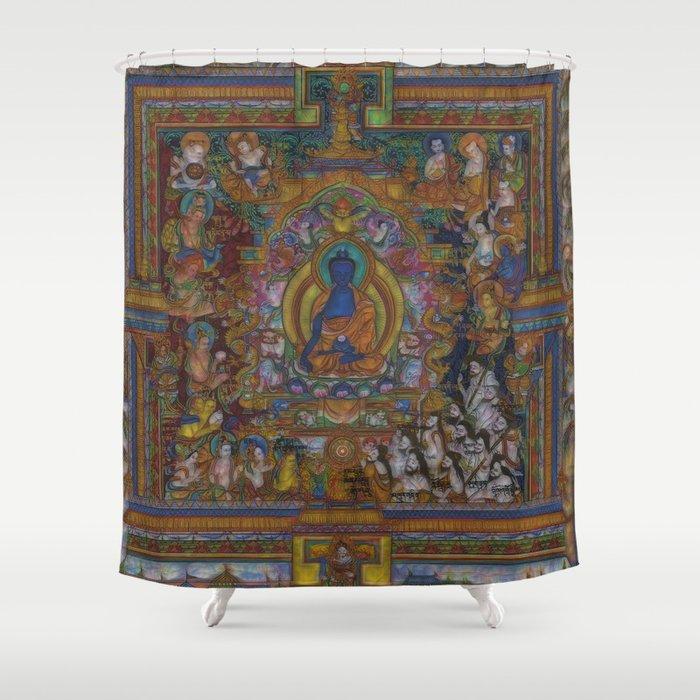 The Medicine Buddha Shower Curtain