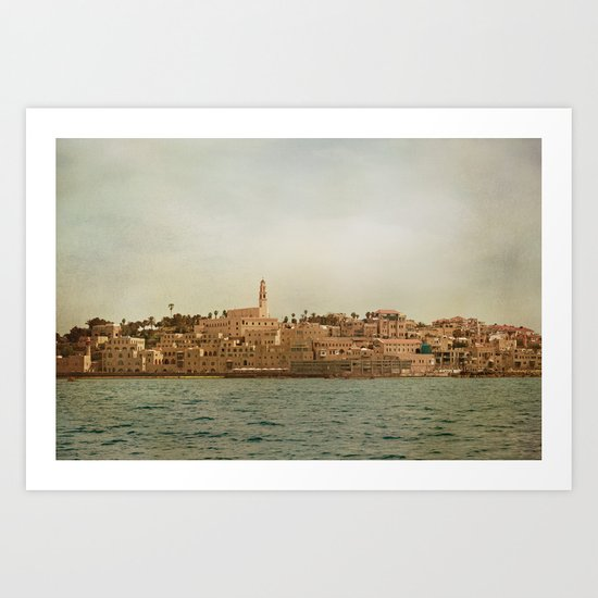 Jaffa from the Sea Art Print