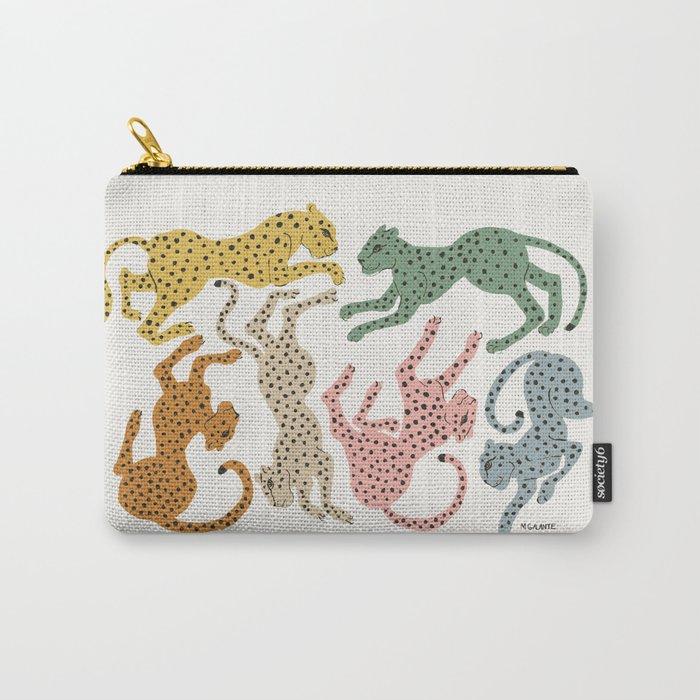 Rainbow Cheetah Carry-All Pouch