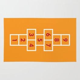 Hopscotch Orange Rug