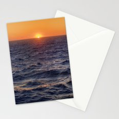 High Sea Windy Storm At Sunset Stationery Cards