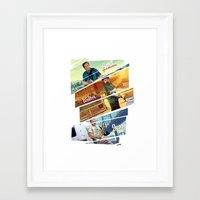 gta v Framed Art Prints featuring Breaking Bad mashup GTA V  by Akyanyme