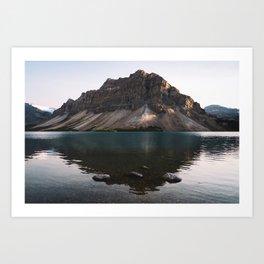 Bow Lake, Alberta Art Print