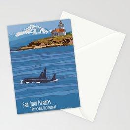 Vintage poster - San Juan Islands Stationery Cards