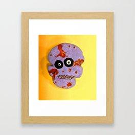 Zombie Skull Cookie Framed Art Print