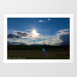 Sun after the storm Art Print