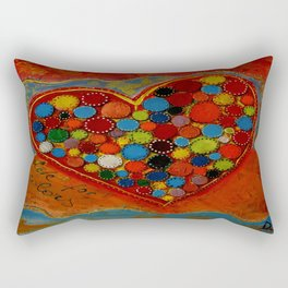 love for colors  Rectangular Pillow