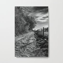 Snow Covered Track Metal Print