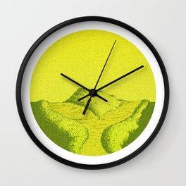 Yellow Y Path Wall Clock