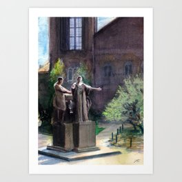 Alma Mater: U of Illinois Urbana Champaign Art Print