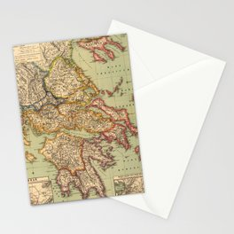 Vintage Map of Greece (1903) Stationery Cards
