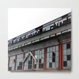 Bethlehem Steel plant windows in color Metal Print