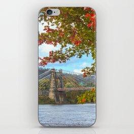 Fall at Wheeling Heritage Port iPhone Skin