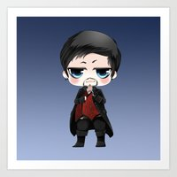 ouat Art Prints featuring OUAT - Chibi Killian Jones by Yorlenisama