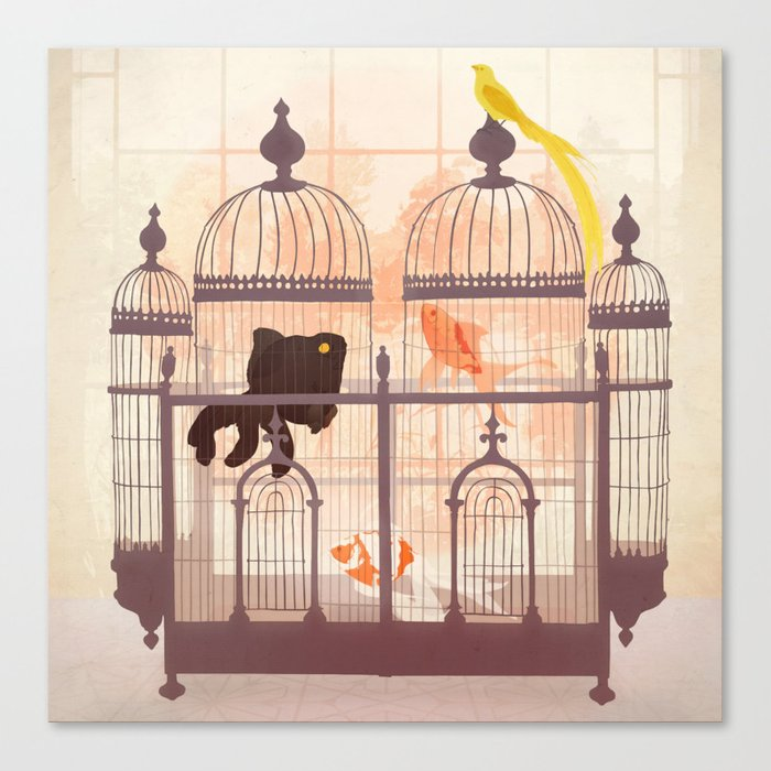 Cages Canvas Print