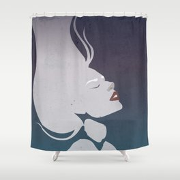 Floatinf Face Shower Curtain
