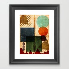 Implied Geometry Framed Art Print