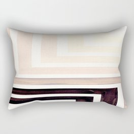 Grey Mid Century Modern Watercolor Colorful Ancient Aztec Art Pattern Minimalist Geometric Pattern Rectangular Pillow