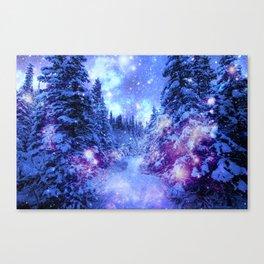 Mystical Snow Winter Forest Canvas Print