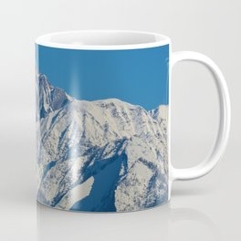 Fresh snow on the mountains of Jasper National Park Coffee Mug