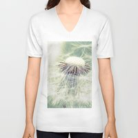 weed V-neck T-shirts featuring a weed by Bonnie Jakobsen-Martin