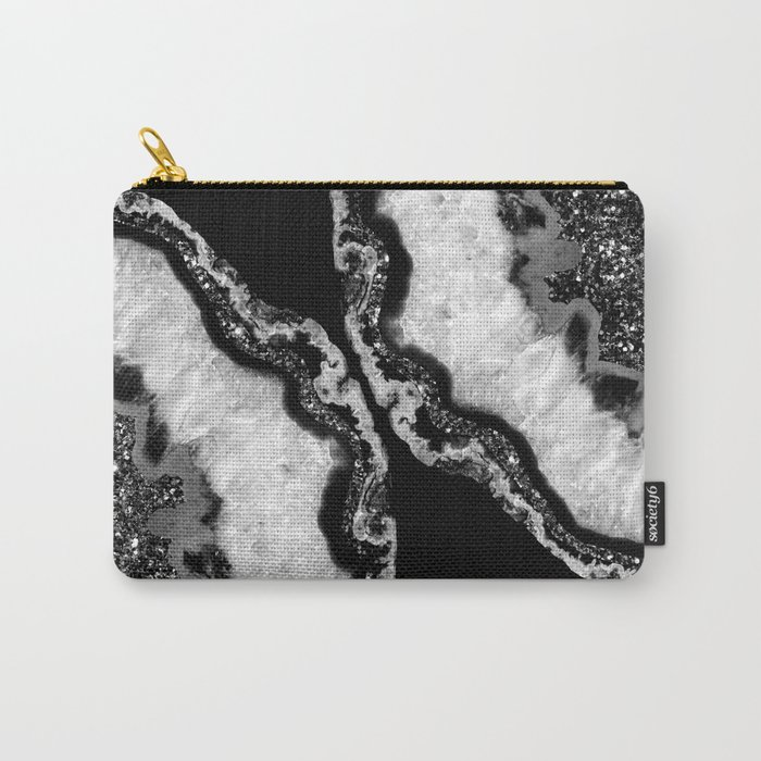 Yin Yang Agate Glitter Glam #4 #gem #decor #art #society6 Carry-All Pouch