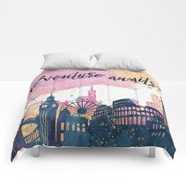 Adventure Awaits Watercolor Comforters