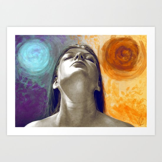 Equilibrum - retouched drawing Art Print