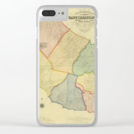 Vintage Map of Saint Kitts (1828) Clear iPhone Case