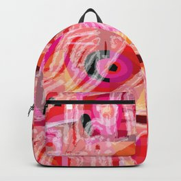 Pink Skumble Pattern Backpack